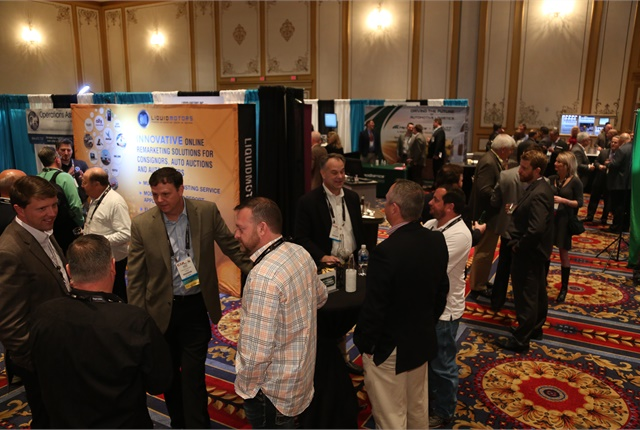 Attendees socialize at the CAR 2017 exhibit hall. Photo: Steve Reed.