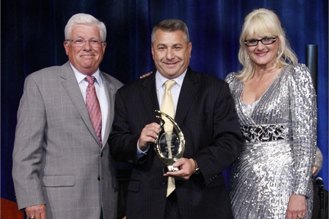 (Left) Jay Cadigan, NAAA Chairman of the Board; Tom Caruso, NAAA Hall of Fame recipient and ADESA CEO and President; and Charlotte Pyle, NAAA President.