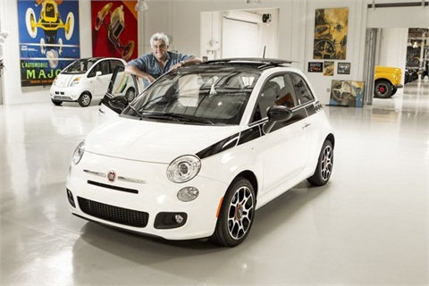 """Tonight Show"" host Jay Leno's 2012 Fiat 500 Prima Edizione. (Gooding & Co.)"
