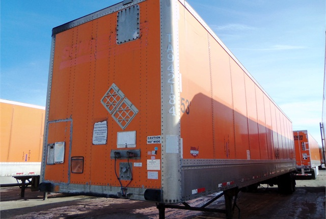 Trailers offered by Schneider are 1999-2004 model-year 53-foot dry vans.