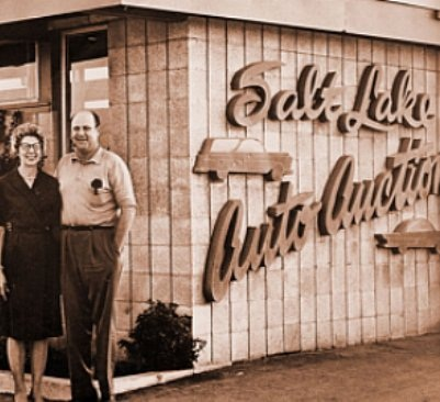 Frank and Esther Brasher founded the first Brasher's auction in Salt Lake City in 1949. This year, seven Brasher's auctions throughout the West celebrated the 65th Anniversary of the family business.(PHOTO: ServNet)