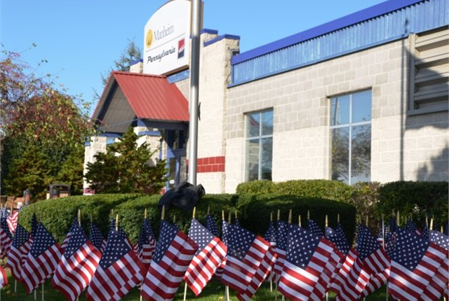 In honor of Veteran's Day, 2,000 American flags were placed on display on the grounds of Manheim Pennsylvania. (PHOTO: MANHEIM)