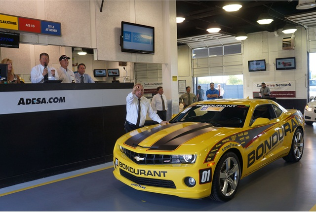 Bondurant helped auction off a 2012 Chevrolet Camaro SS show car from the school. This year marks the 45th year the school has been in operation.