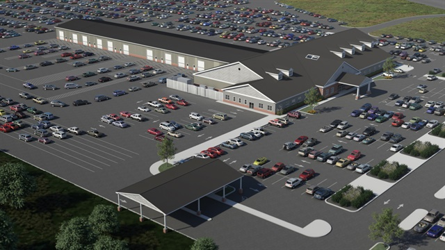 Architectural rendering of BSC Bel Air Auto Auction's forthcoming Riverside location.The new location is scheduled to open fall 2016. Photo courtesy of BSC Bel Air Auto Auction.
