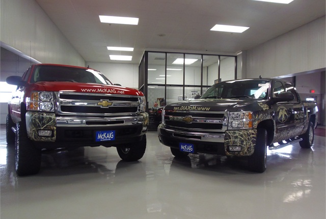 The 2011 Chevrolet Z71 and the 2010 Chevrolet Z71 trucks were previously owned by Phil Robertson and his son Willie Robertson. The Robertsons originally obtained both trucks through McKaig Chevrolet-Buick.