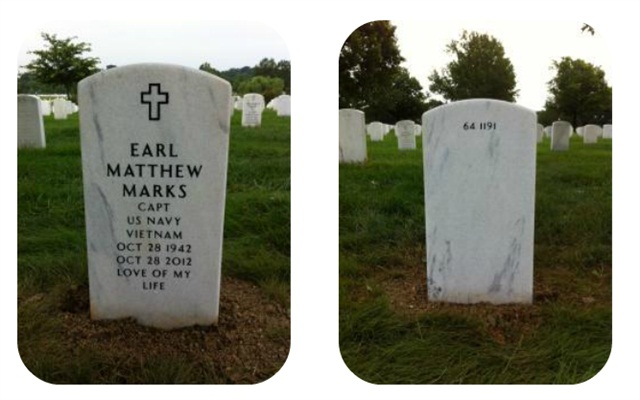 Captain Matthew Earl Marks is buried at Arlington National Cemetery.