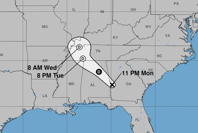 Hurricane Irma forecast via NOAA.