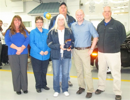 Manheim Harrisonburg: Fleet/Lease Department of the Year     Laura Seekford, Cindy Judy, Robert (Biggin) Vernon, Terree Rinaca, Mike Scott (CPS), Lee Barbato