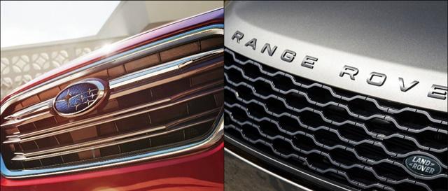 Photos courtesy of Subaru and Land Rover.