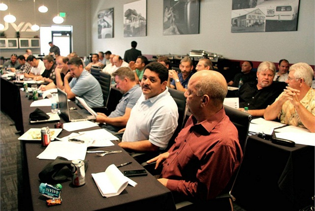 Buyers gather every Wednesday for Brasher's UVA Sale at Club Auto Sport in San Jose to bid on front-line ready inventory from new car dealers all over Northern California. In addition to the San Jose location, UVA hosts weekly sales in Sacramento, Fresno, Portland, Los Angeles and Salt Lake City.