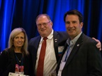<p><em>(l-r) Former IARA President Jeannie Chiaromonte, IARA Executive Director Tony Long, and President Tim Meta after the passing of the presidential gavel.</em></p>
